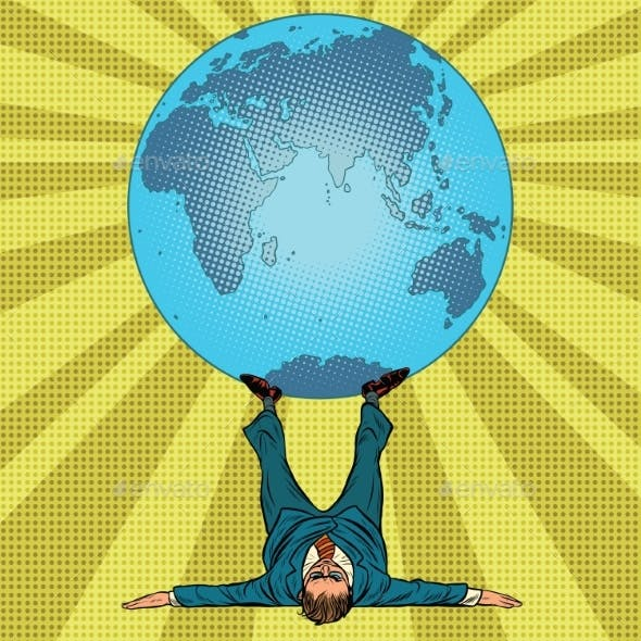 International Policy Concept Man and Earth