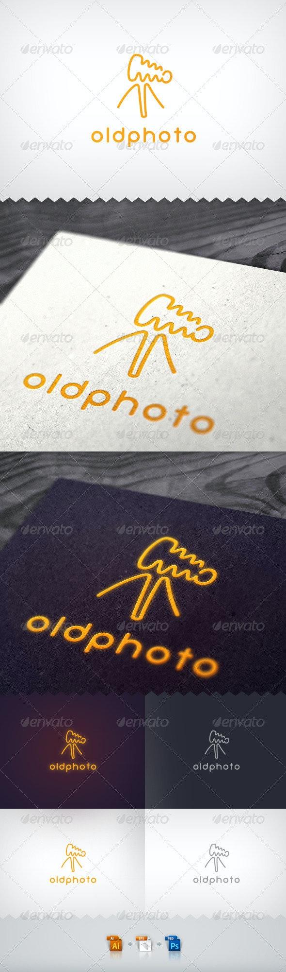 Old Photo Camera Neon Logo - Objects Logo Templates