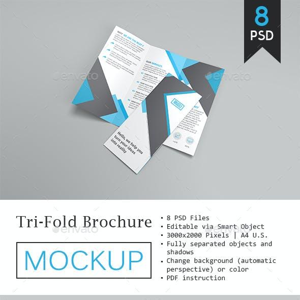 Trifold Brochure Mockup Vol.2