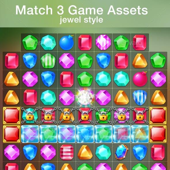 Match 3 Game Assets