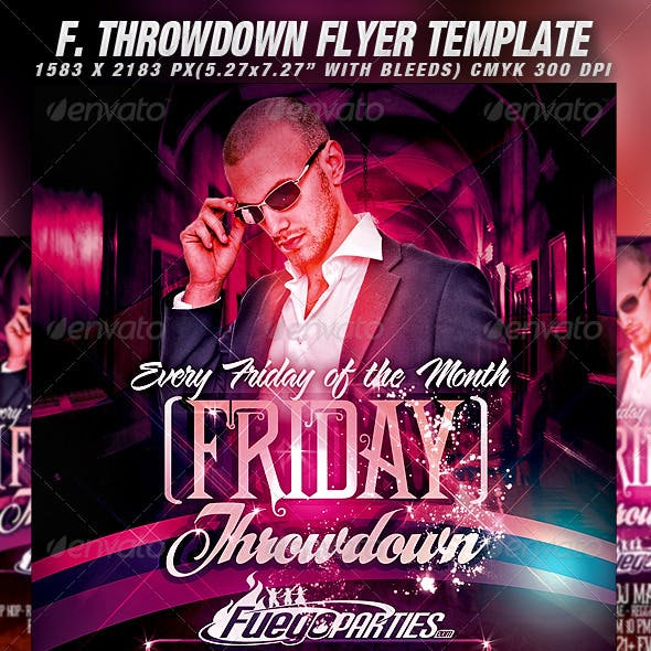 Friday Throwdown Flyer Template