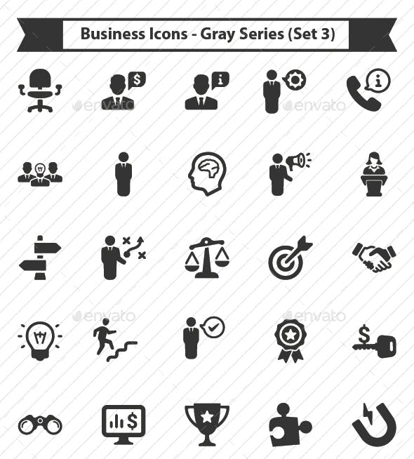 Business Icons - Gray Series (Set 3)