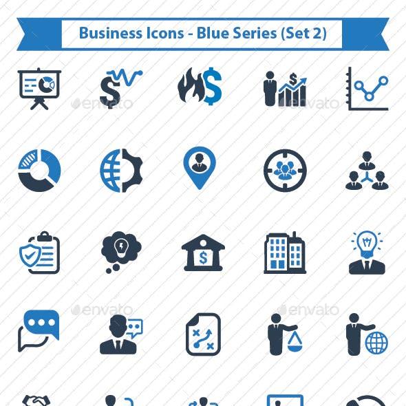 Business Icon - Blue Series (Set 2)