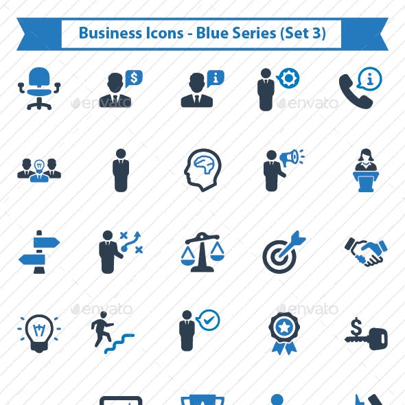 Business Icons - Blue Series (Set 3)