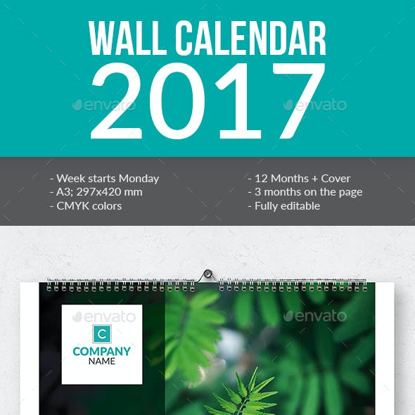 Wall Calendar 2017