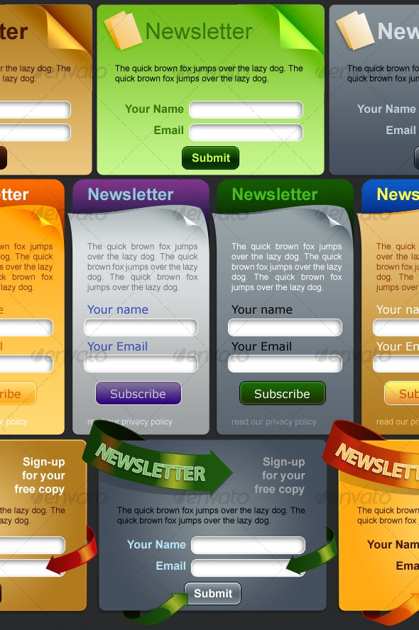 Newsletter Submission - Forms Web Elements