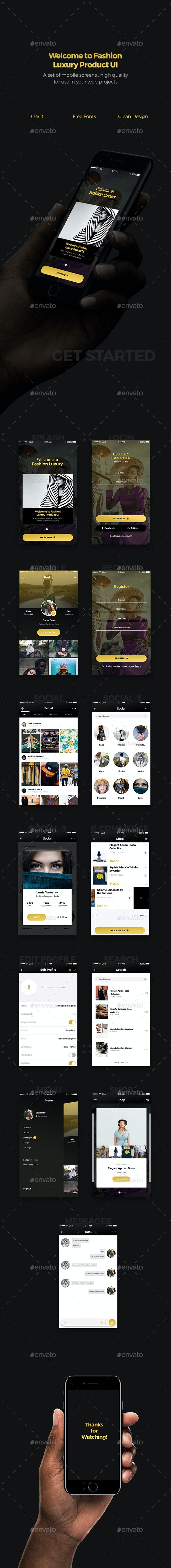 Fashion Luxury Product Mobile UI