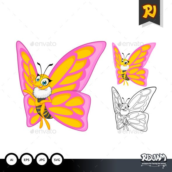 Butterfly Cartoon Character