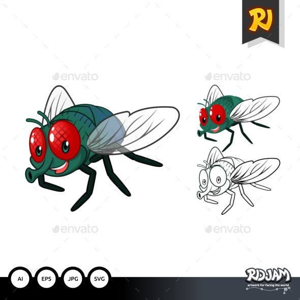 Fly Cartoon Character