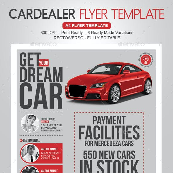 Car Dealer & Auto Services Business Flyer
