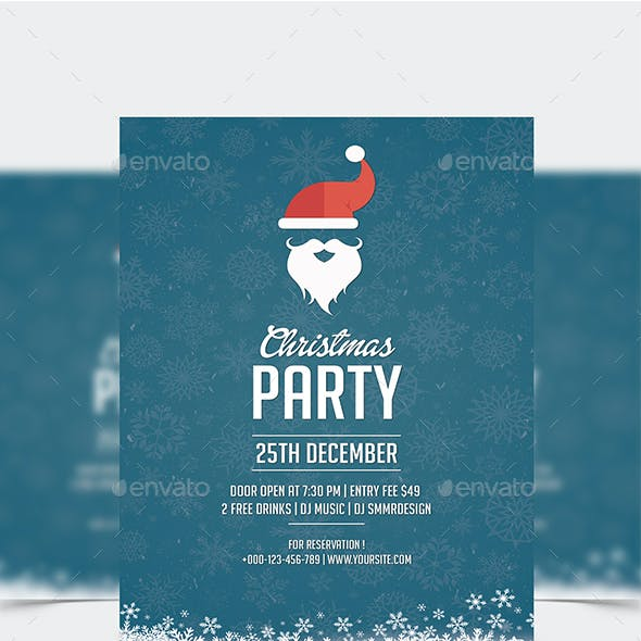 Santa Christmas Party Flyer