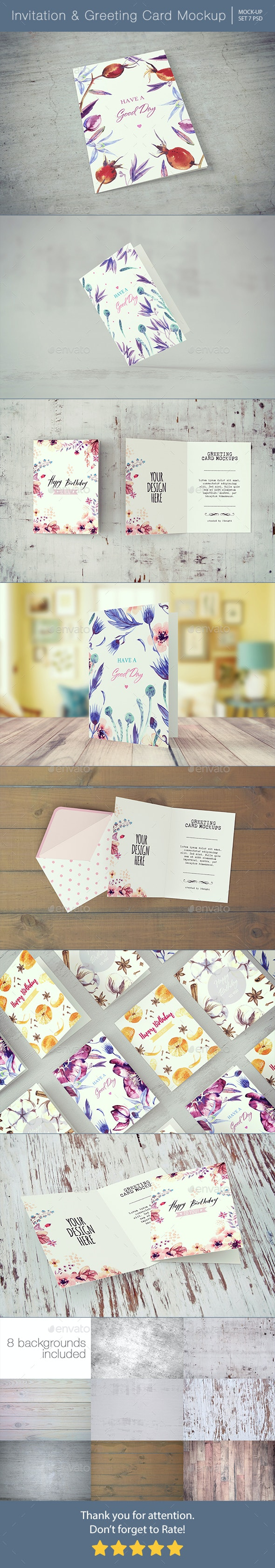 Invitation & Greeting Card Mockup - Miscellaneous Print