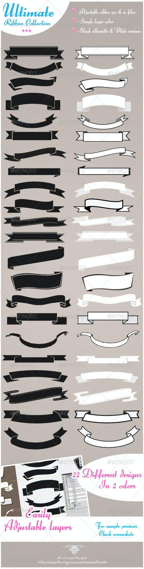 Ultimate vector ribbon set  - Decorative Vectors