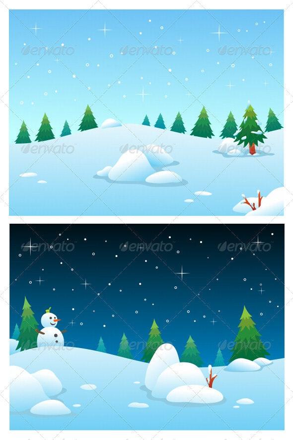 Winter Backgrounds - Seasons Nature