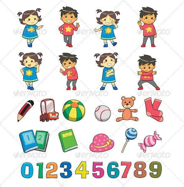 Kids Style - Characters Vectors