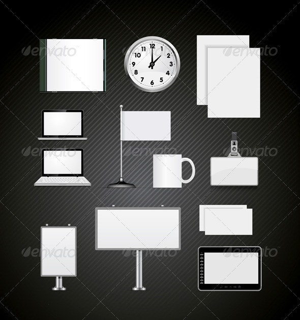 Set Of Corporate Identity Templates  - Man-made Objects Objects