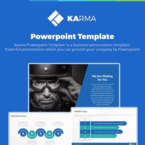 Karma Powerpoint Presentation Template