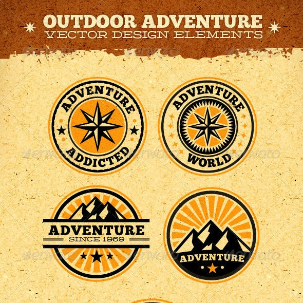 Outdoor Adventure Vector Design Elements