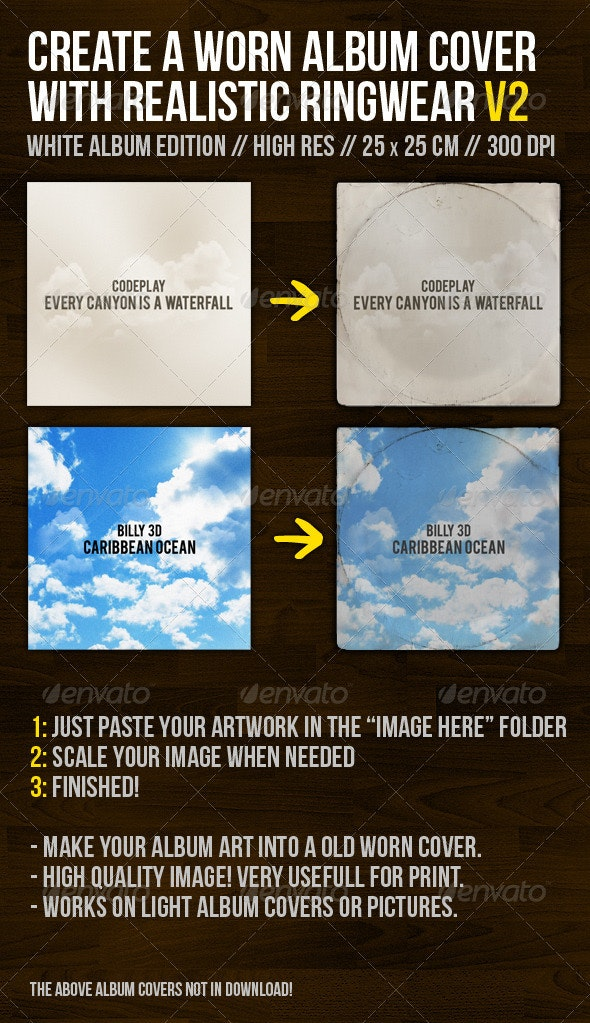 Create A Worn Album Cover With Ringwear Part 2 - Miscellaneous Photo Templates