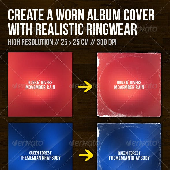 Create A Worn Album Cover With Ringwear
