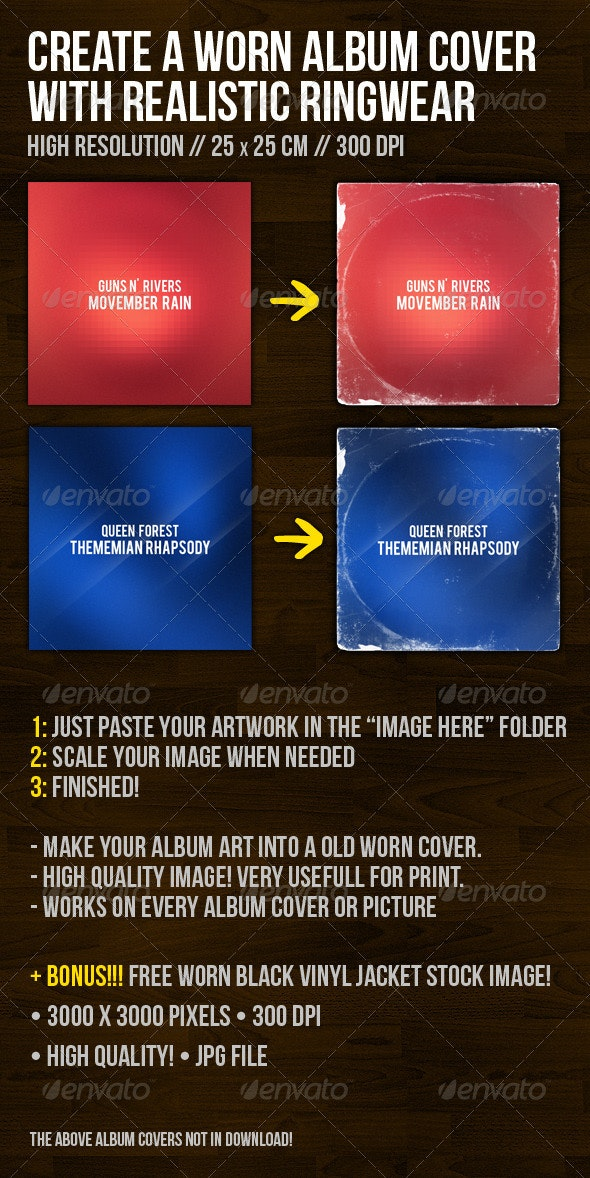 Create A Worn Album Cover With Ringwear - CD & DVD Artwork Print Templates