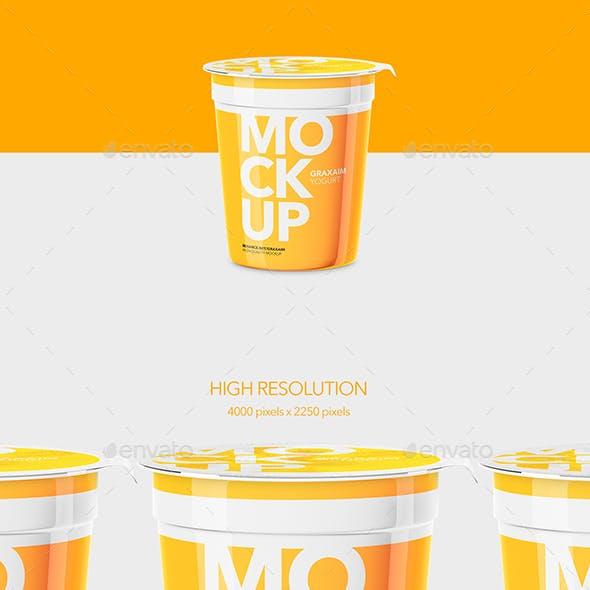 Yogurt Cup - High Angle - Mockup
