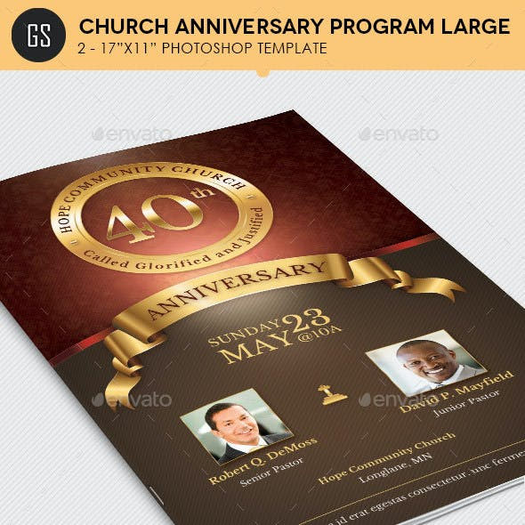 Church Anniversary Program Large Template