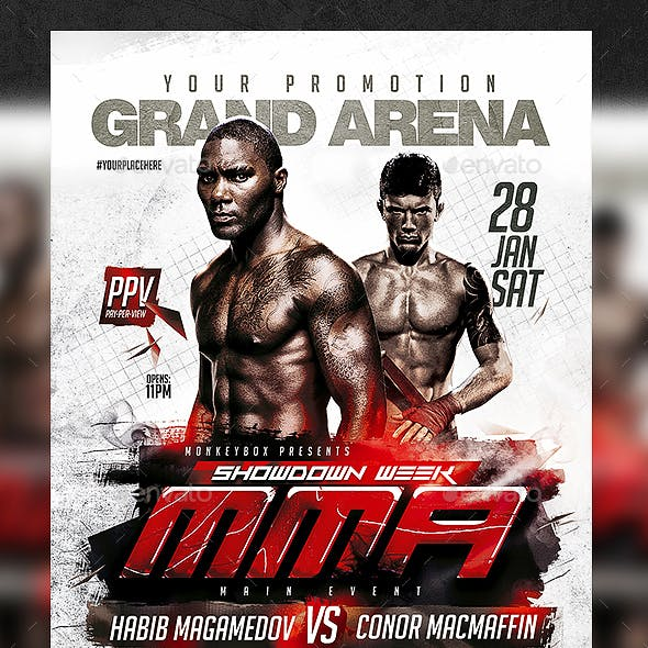 MMA Flyer Template