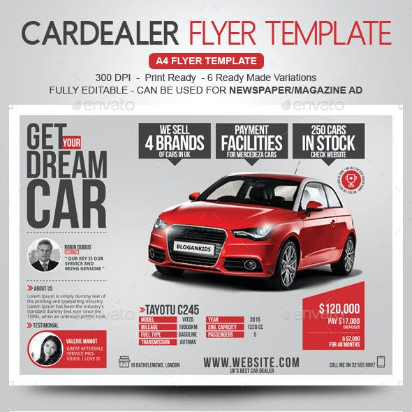 Car Dealer Flyer / Magazine Ad