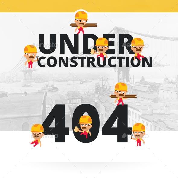 Under Construction & 404 Error Page