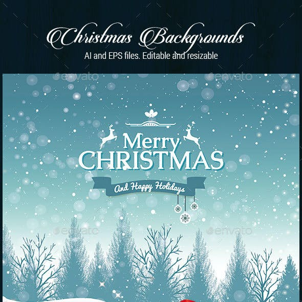 4 Christmas Backgrounds