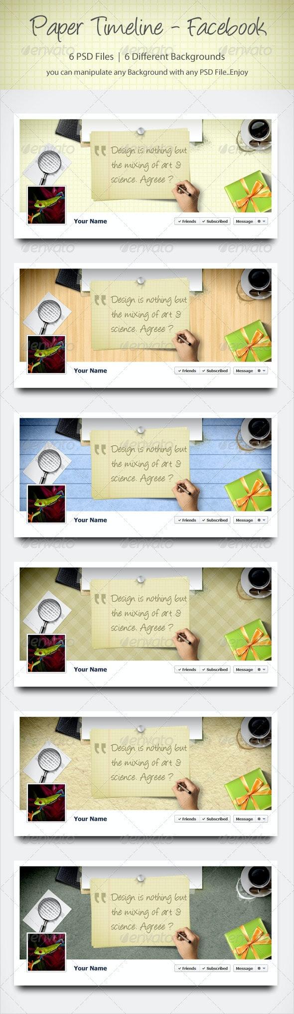 Paper Timeline - Facebook - Facebook Timeline Covers Social Media