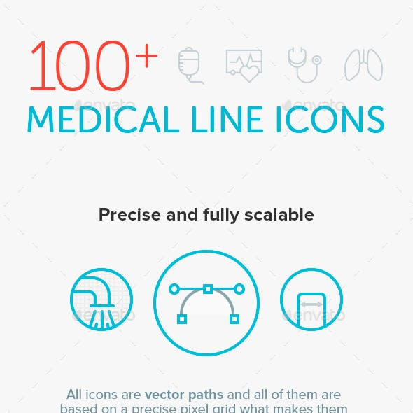 Outline Icon Set – Medical and Healthcare
