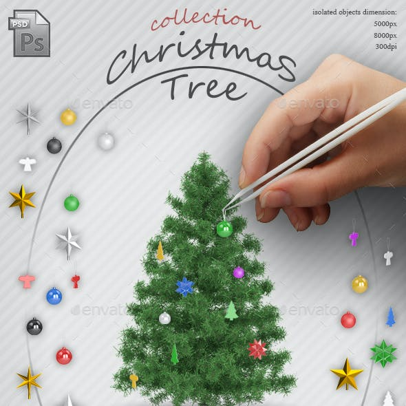 Christmas Tree and Toys - Isolated Objects Collection