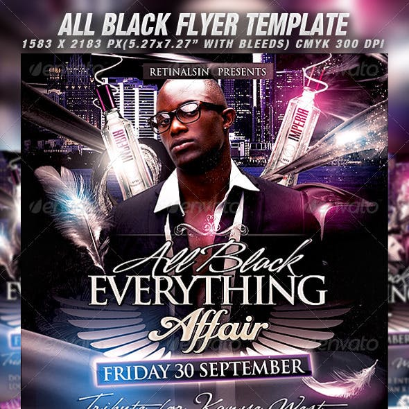 All Black Flyer Template