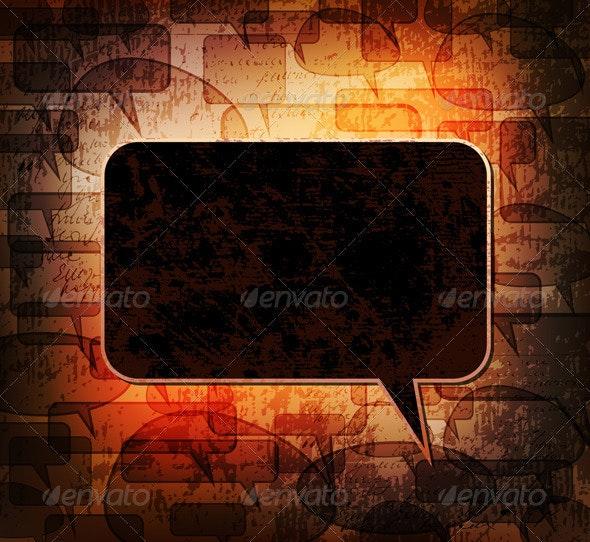 Grungy speech bubble - Backgrounds Decorative