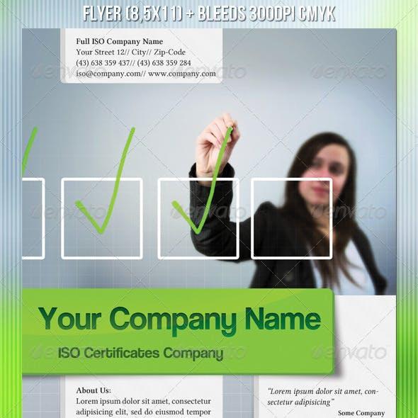 ISO Certification Flyer