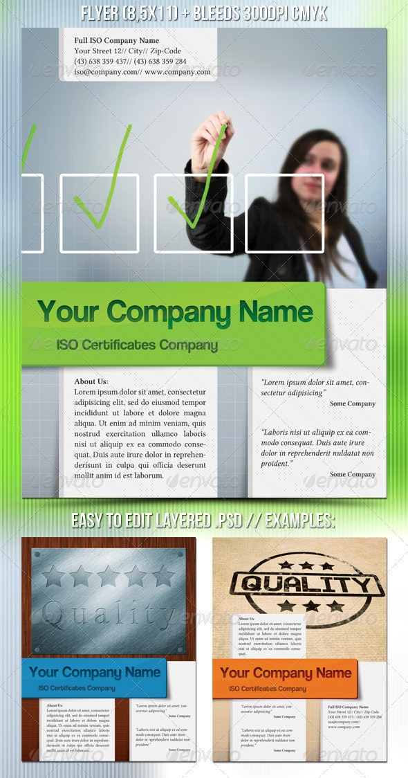 ISO Certification Flyer - Corporate Flyers