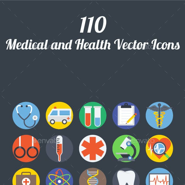 110 Medical and Health Vector Icons