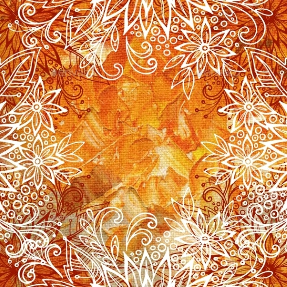 Floral Pattern on Oil Paint Painting - Patterns Decorative