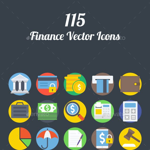 115 Finance Vector Icons