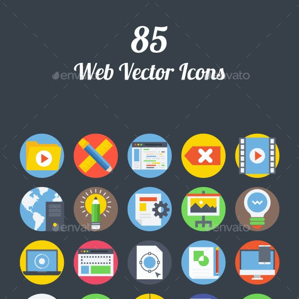 85 Web Vector Icons