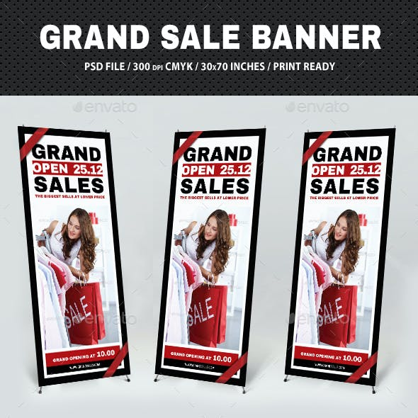 Grand Sale Banner Template