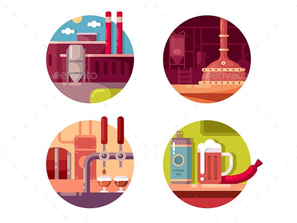 Process of Brewing - Miscellaneous Vectors