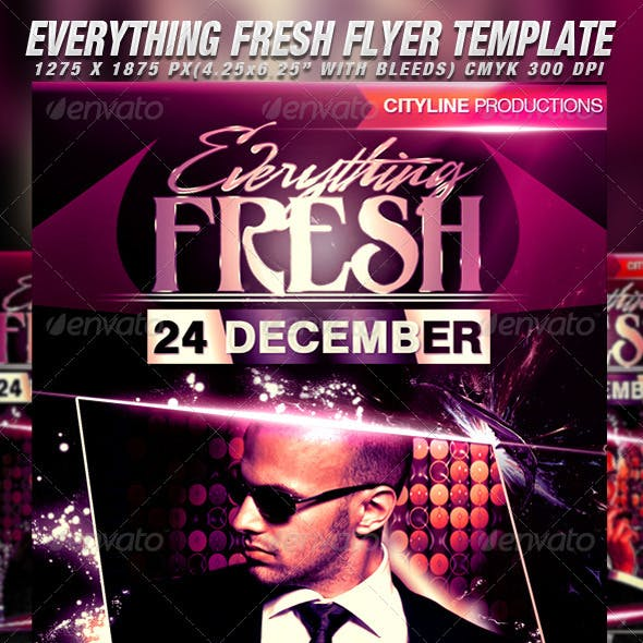 Everything Fresh Flyer Template