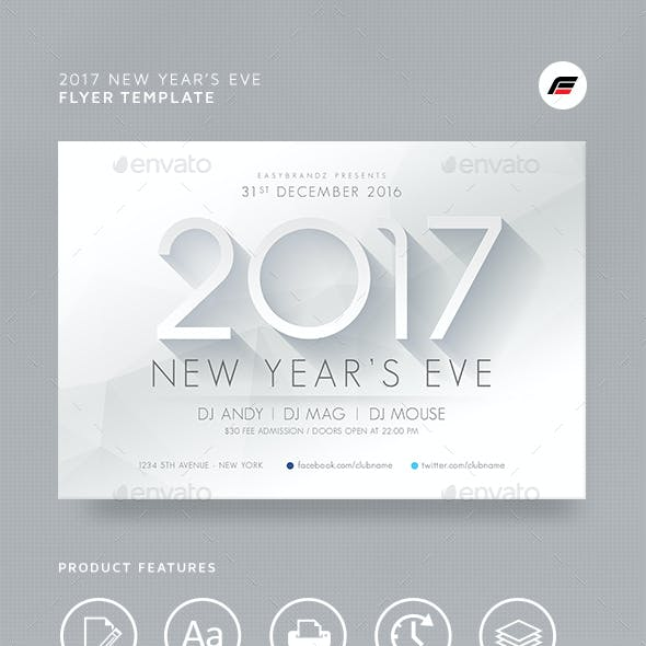 2017 New Years Flyer Template