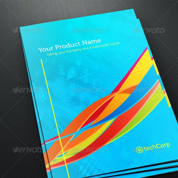 Whirls Technology A4 Brochure Template