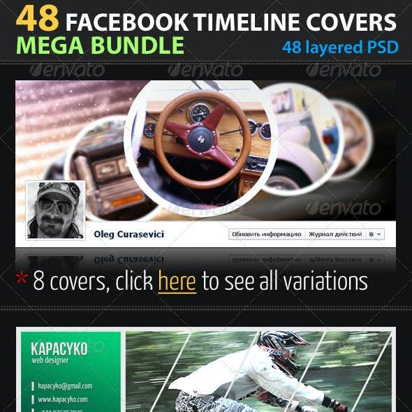 48 Facebook Timeline Covers Mega Bundle