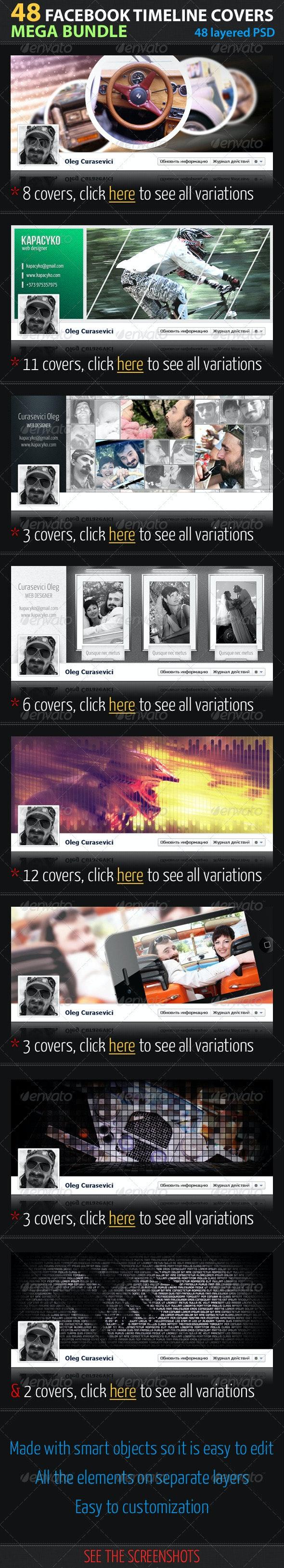 48 Facebook Timeline Covers Mega Bundle - Facebook Timeline Covers Social Media