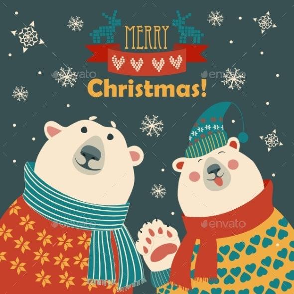 Polar Bears Say Hello - Christmas Seasons/Holidays